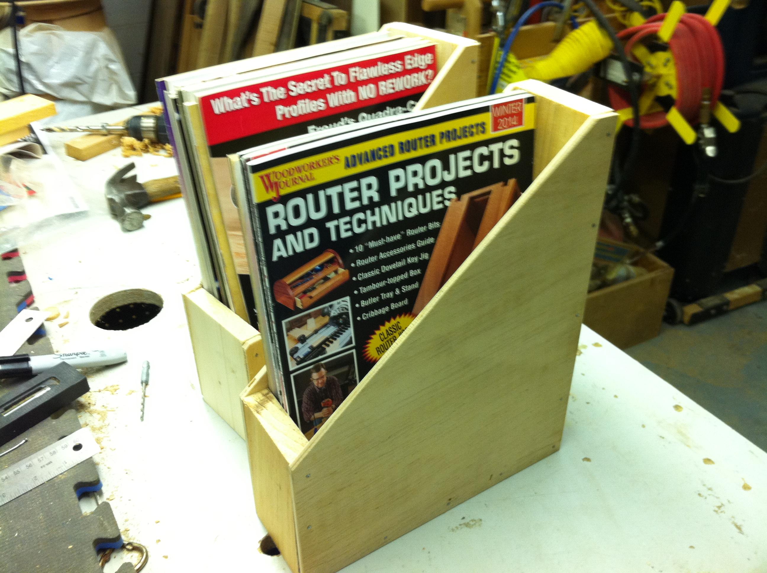 Comment fabriquer un porte-magazines en bois?