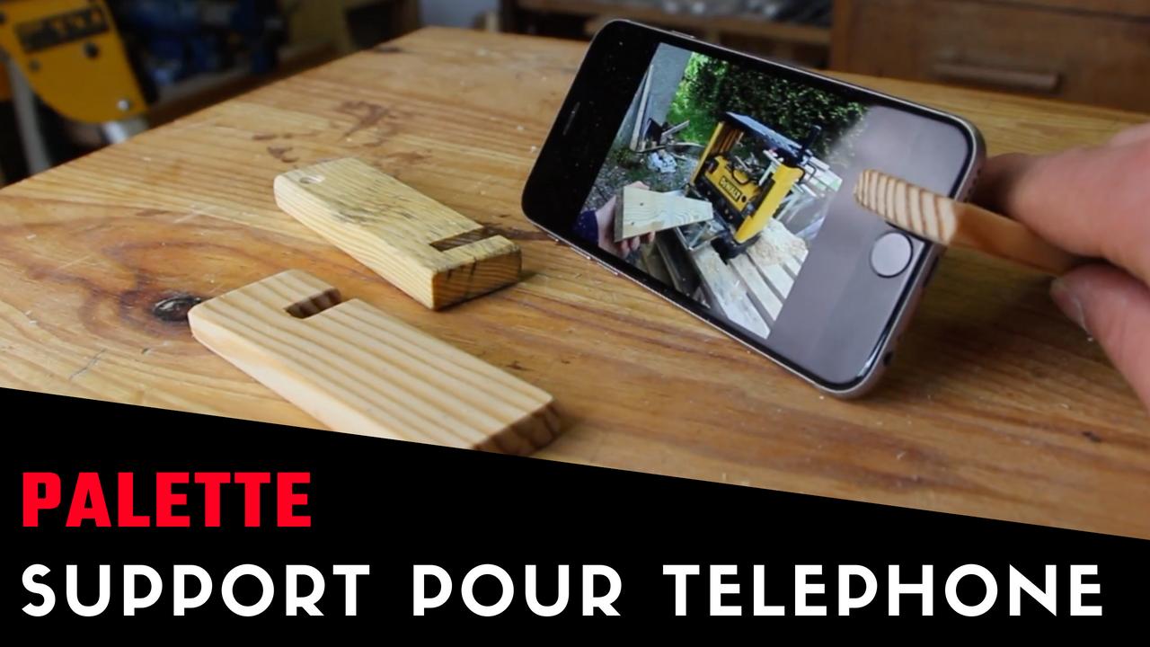 Fabrication d'un support pour téléphone en palette