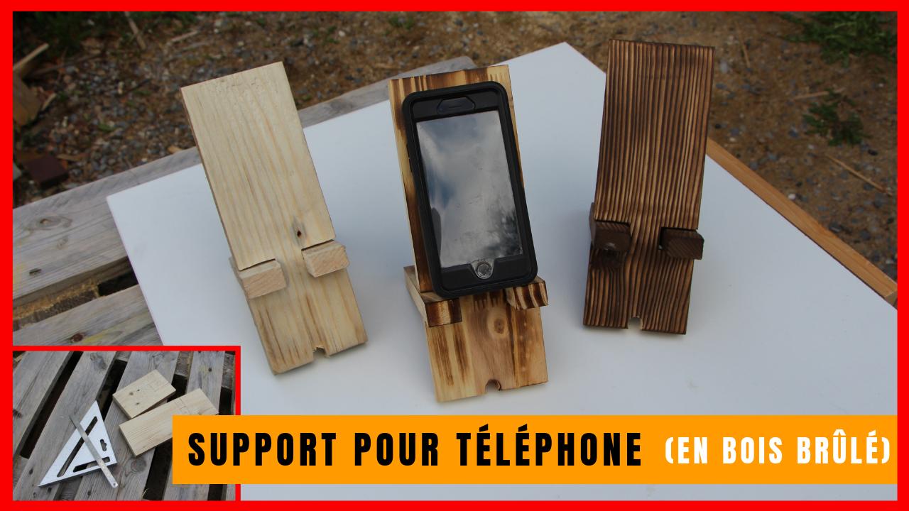 Comment fabriquer un support en bois pour téléphone (qui fait station de charge) ?